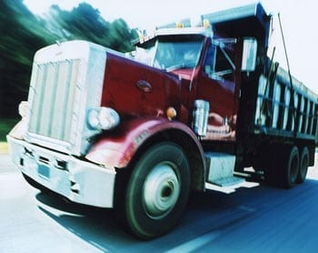 Dump truck accident Indiana