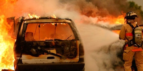 Couple Saved From Fiery Car Crash in Noble County