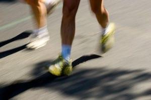 Runners struck by car