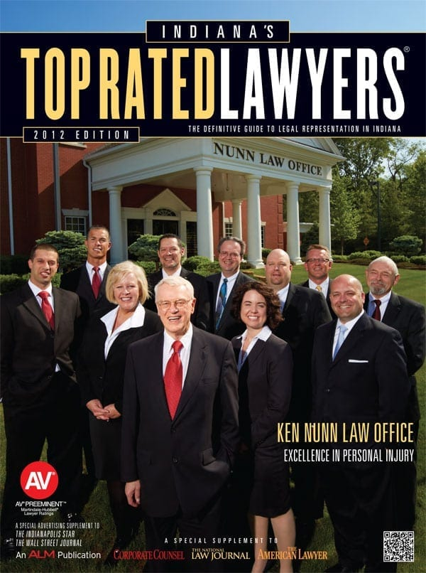 Ken Nunn Law Office Featured in the 2012 Edition of Indiana's Top Rated Lawyers