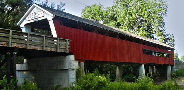Semi Damages 140-Year-Old Covered Bridge | Big Truck Accident Attorneys Indianapolis