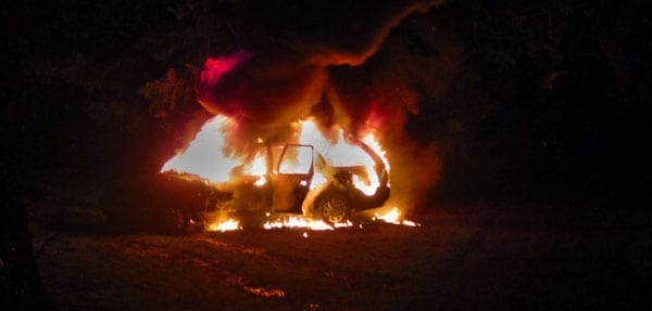 Man is rescued from car fire in Indianapolis.