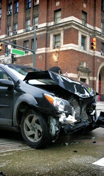 car wreck downtown Indianapolis