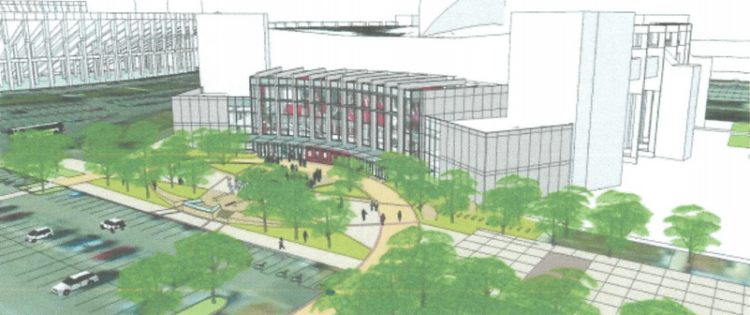 Assembly Hall Entry Plaza Rendering