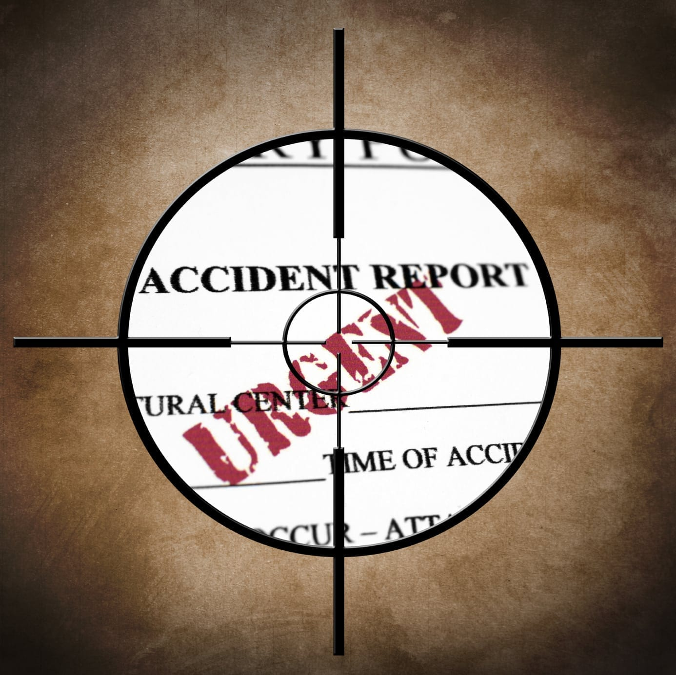 Urgent Accident Report Stock Photo