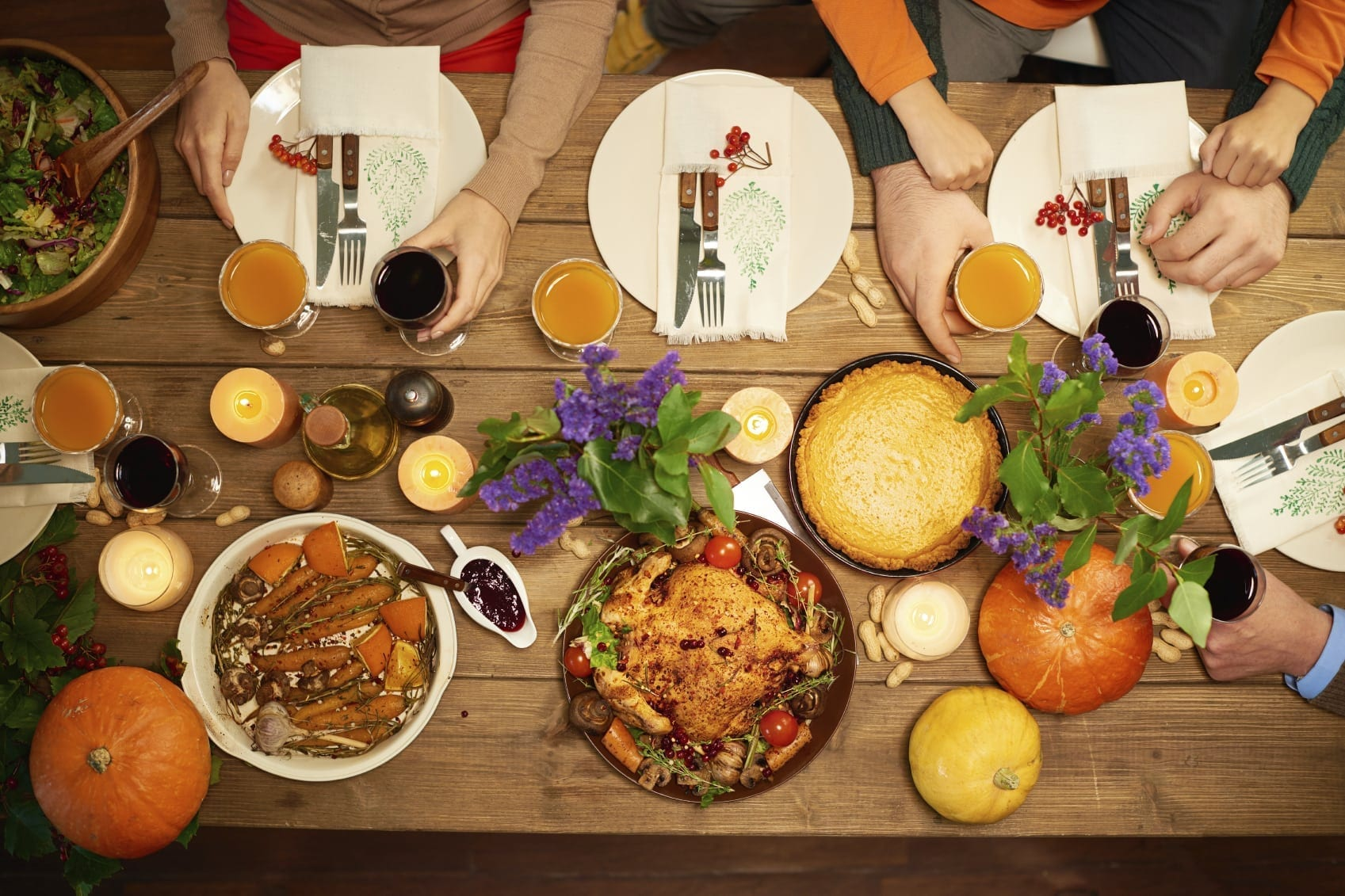 Thanksgiving Dinner Stock Photo