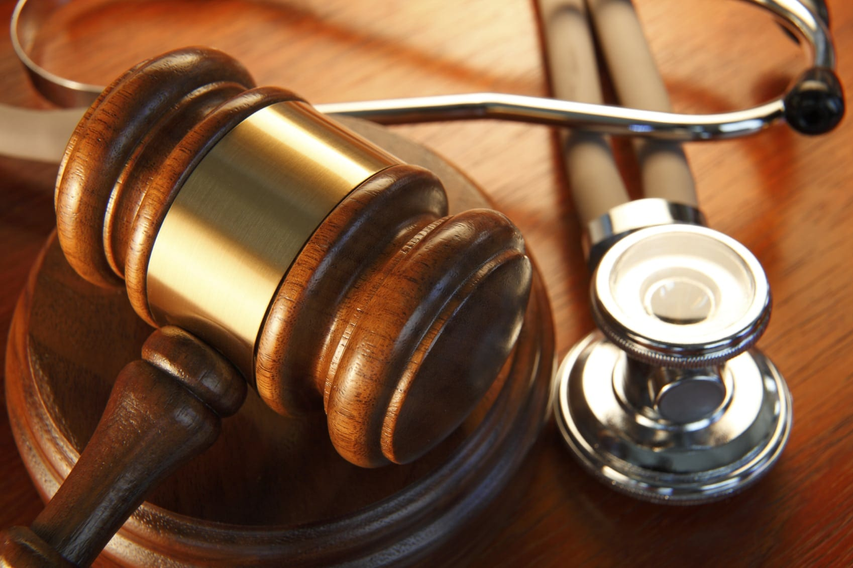 Judge's Gavel With Stethoscope Stock Photo
