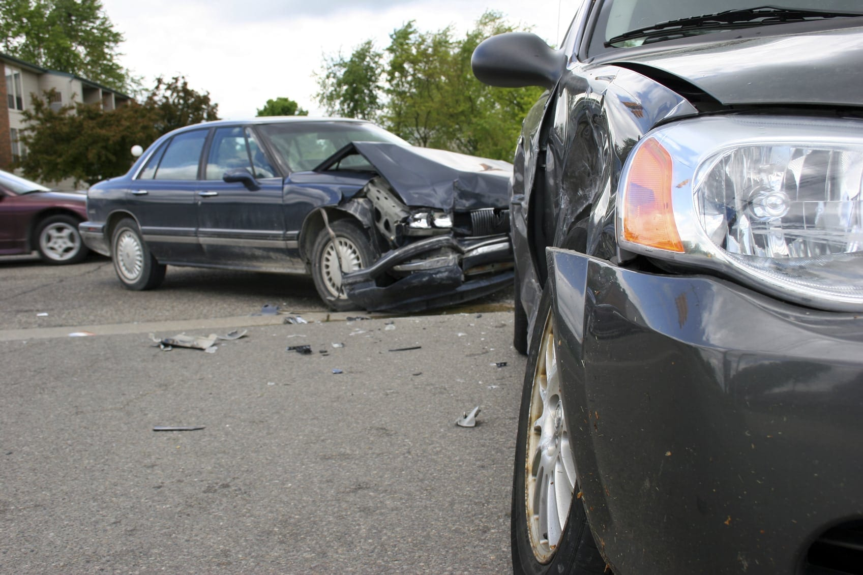 T-bone Car Accident Stock Photo