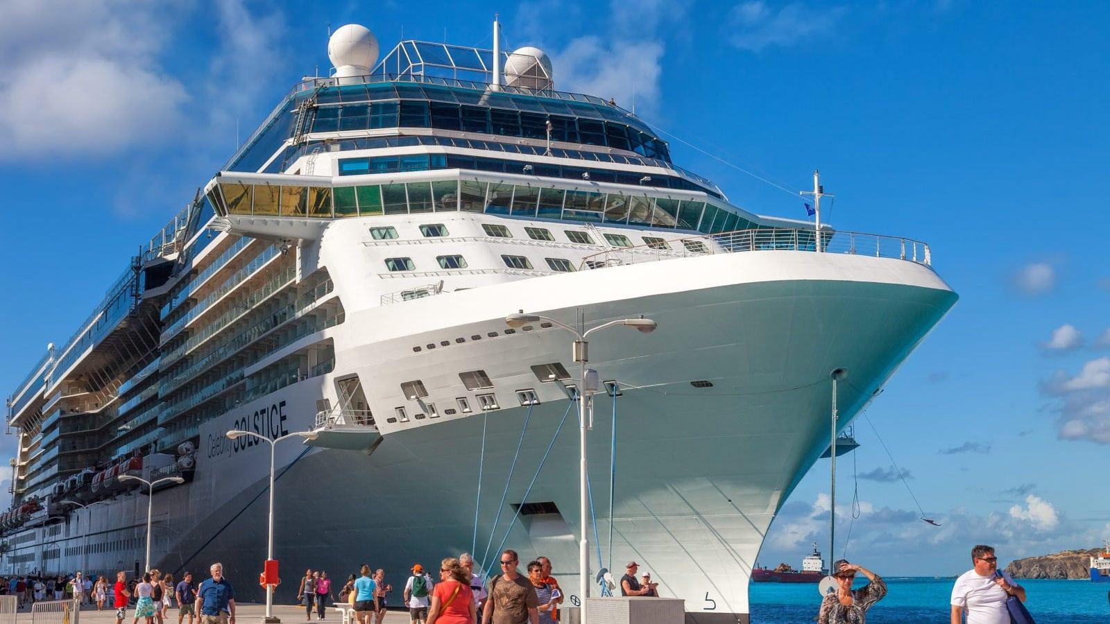 Large Cruise Ship Stock Photo