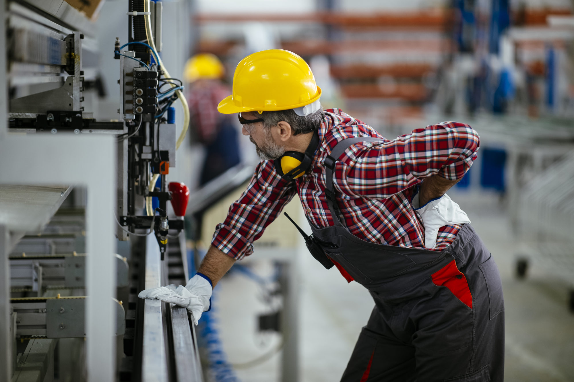 a man experiencing an on-the-job injury in Indianapolis
