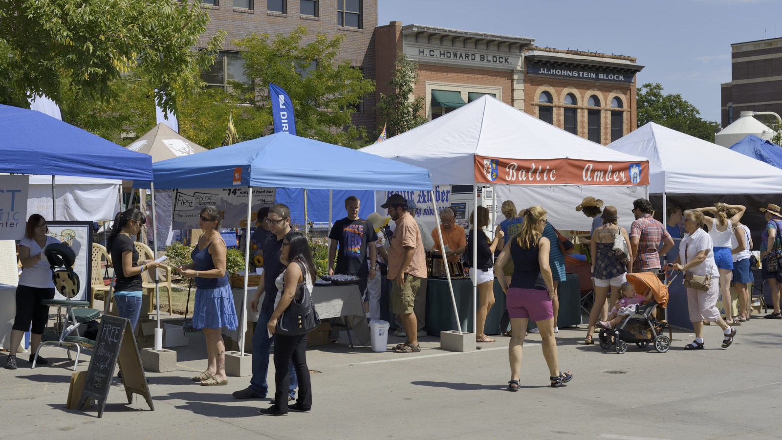 Street festival with arts, crafts, food, amusement rides, and concerts.