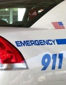 Bloomington, Indiana Police Cruiser Stock Photo