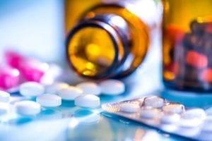 Spilled Prescription Pill Bottle Stock Photo