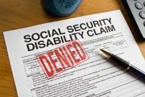 Denied Social Security Disability Claim Stock Photo