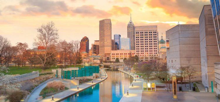 Downtown Indianapolis, Indiana Skyline Stock Photo