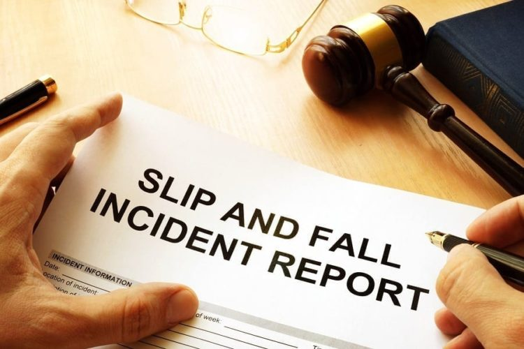 Slip and Fall Accident Report Stock Photo