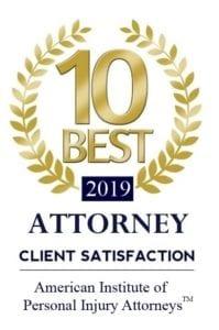 2019 10 Best Attorney Client Satisfaction Logo