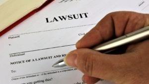 Lawsuit Paperwork Stock Photo