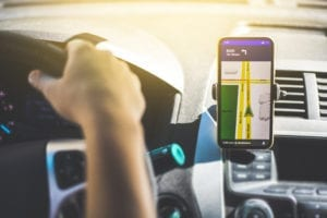 Hands Free Smart Phone in a car