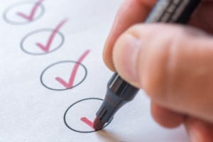 Checking completed tasks on a list