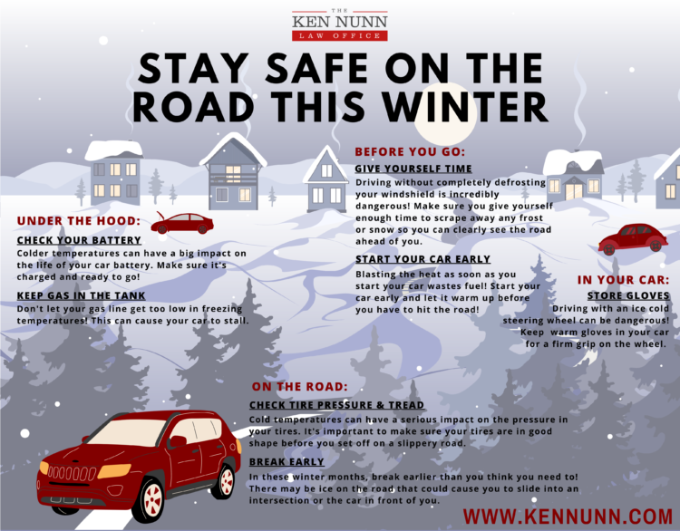 Indiana winter driving tips infographic