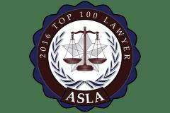 ASLA 2016 Top 100 Lawyers Logo