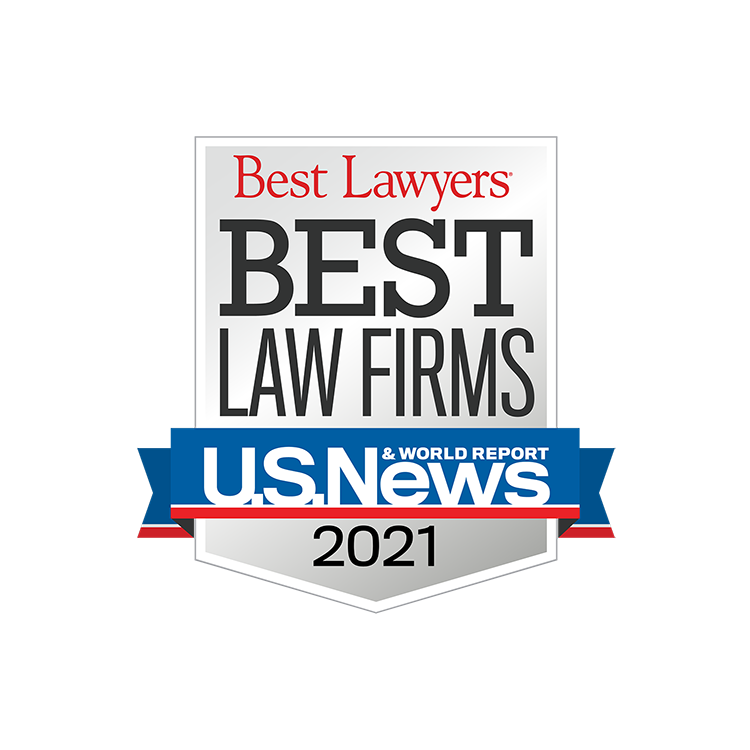 U.S. News Best Law Firms 2021 Badge