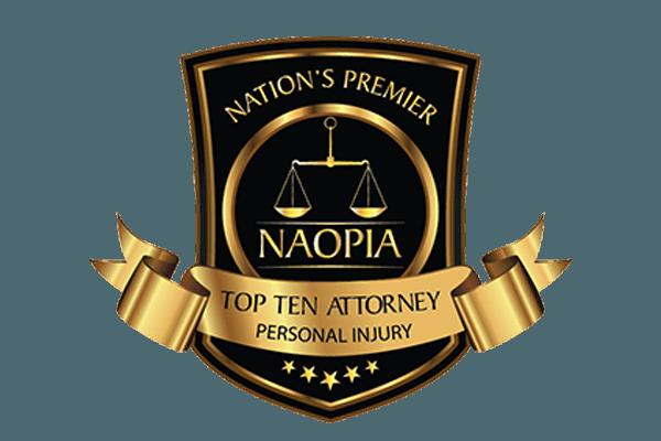 NAOPIA Nation's Premier Top Ten Attorney Personal Injury Logo