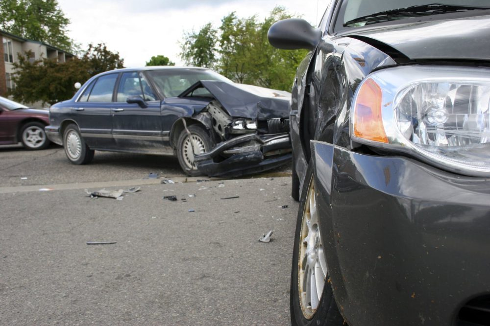T-bone Car Accident Stock Photo