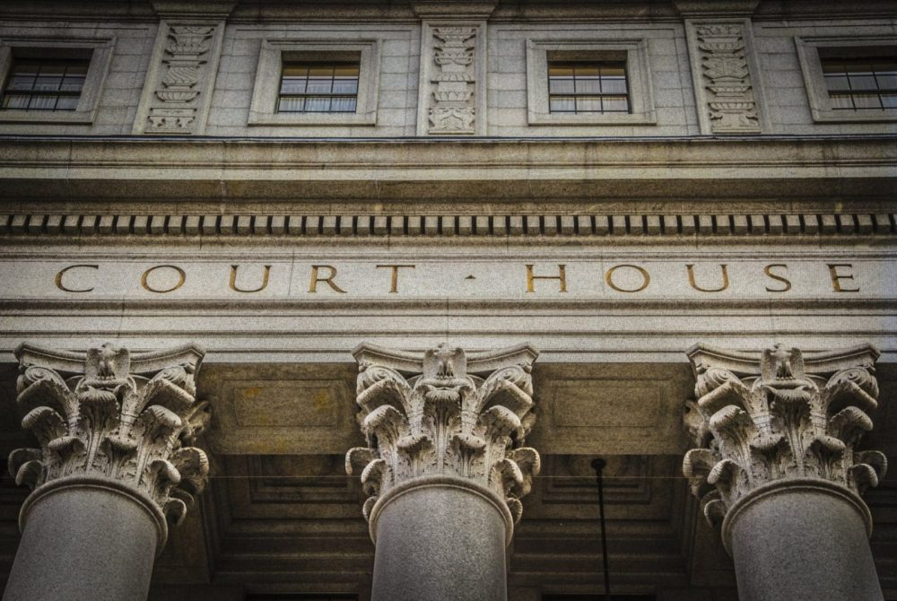Exterior Of A Courthouse Stock Photo