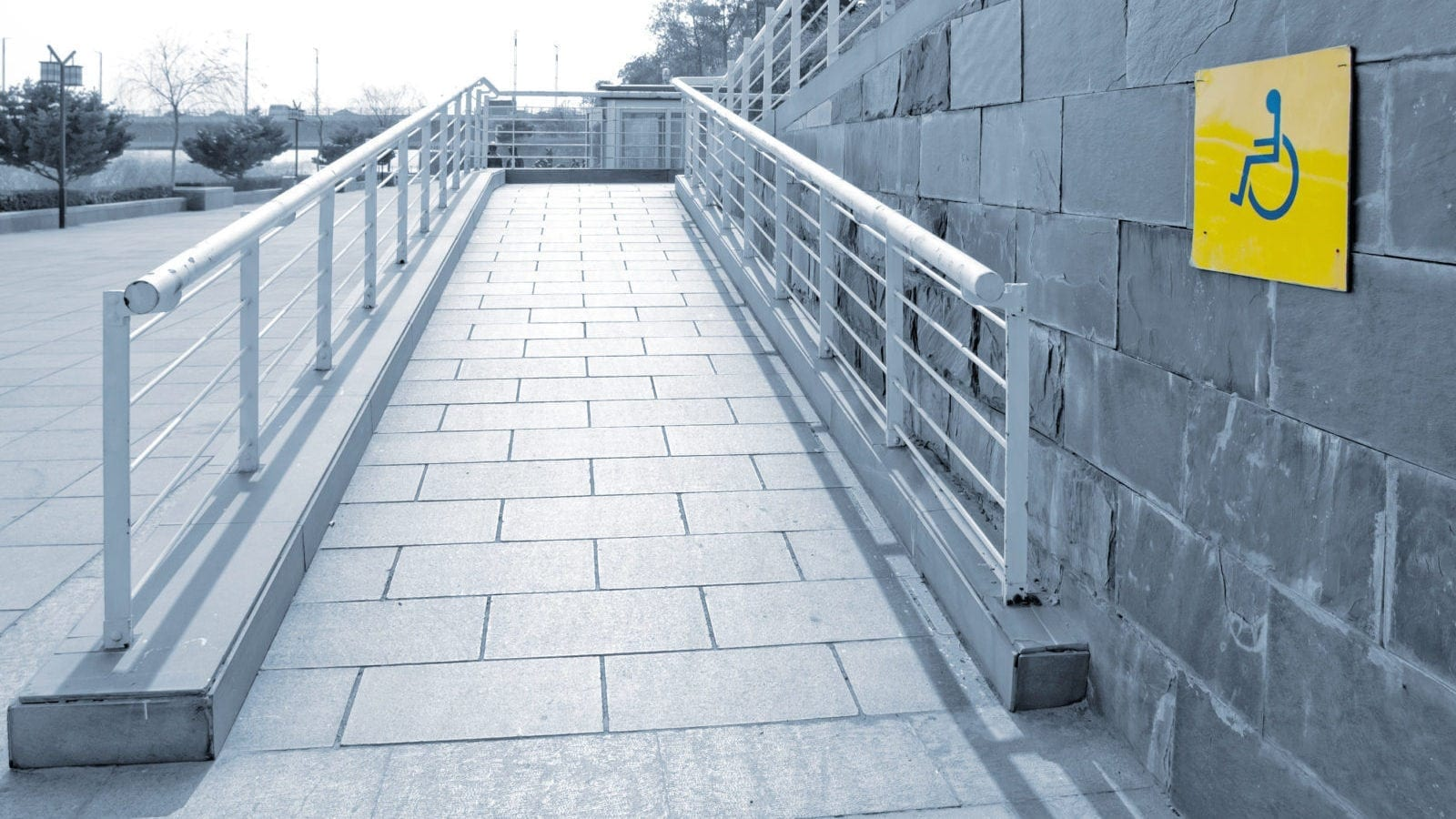 Handicapped Accessible Ramp Stock Photo