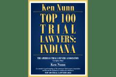 Ken Nunn - Top 100 Trial Lawyers In Indiana Logo