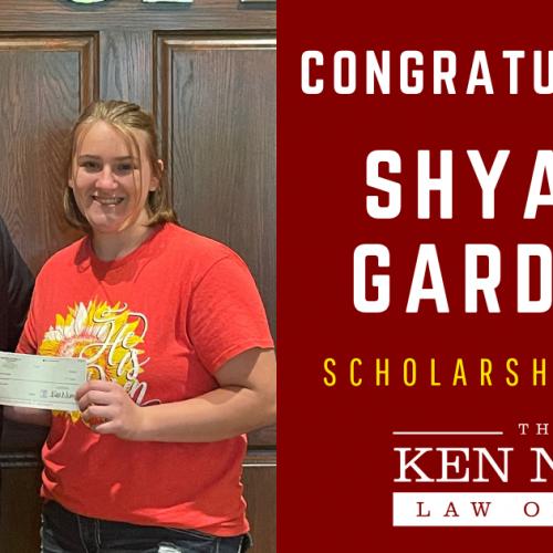 Attorney Ken Nunn with Scholarship Winner